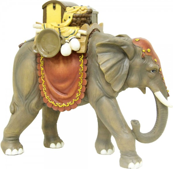 Elefant mit Gepäck 15cm
