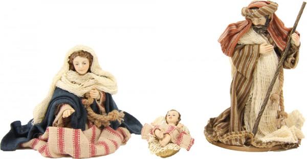 Ankleidefiguren Hlg. Familie orientalisch 3-tlg., für 10cm Figuren