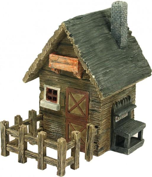 Landhaus mit Zaun 18,5x13x14cm