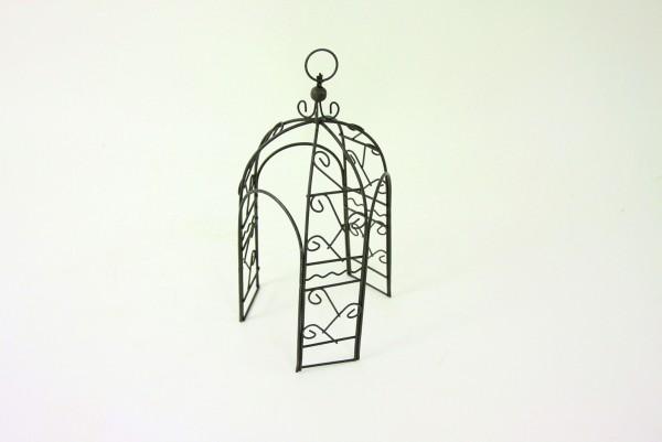 Pavillon aus Metall in braun, 20cm
