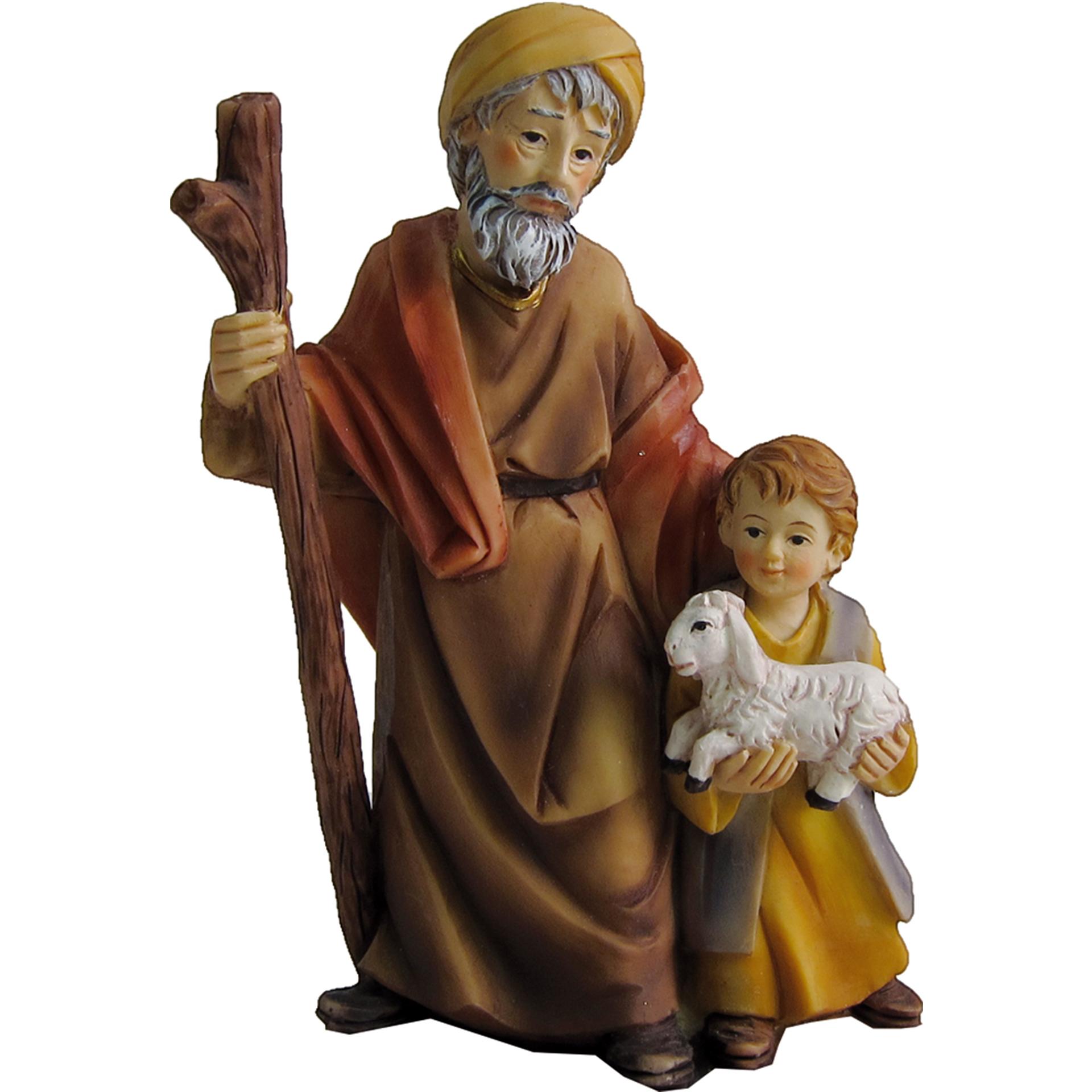Alter Mann mit Junge Zusatzfigur Krippe