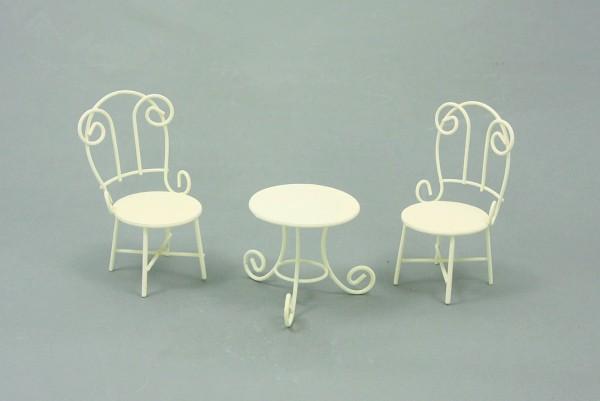 Sitzgruppe weiß 10cm
