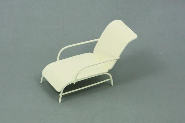Liegestuhl weiß 7cm